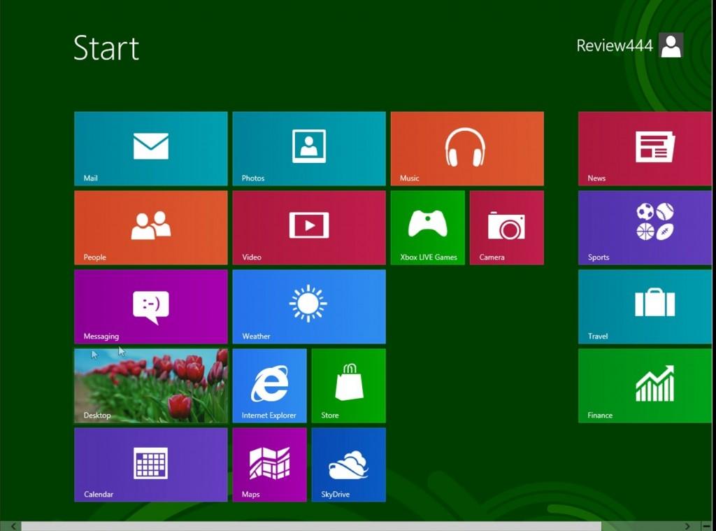 windows 8 release preview start menu