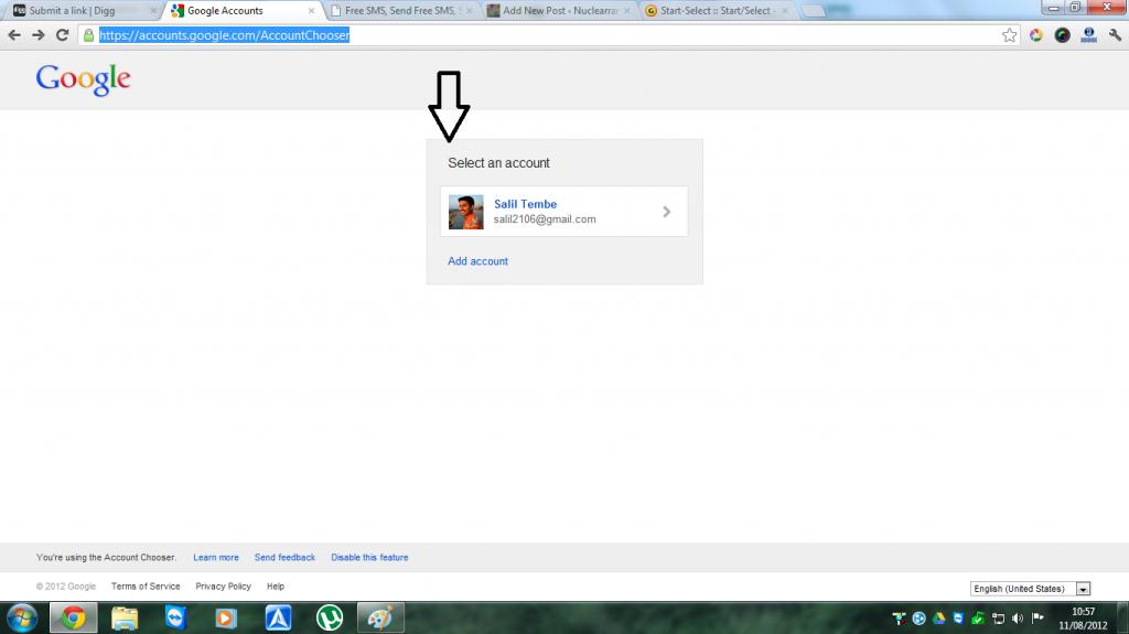 Gmail new login page 2012