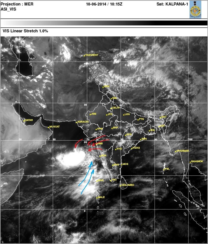 cyclone nanauk and delay of monsoon