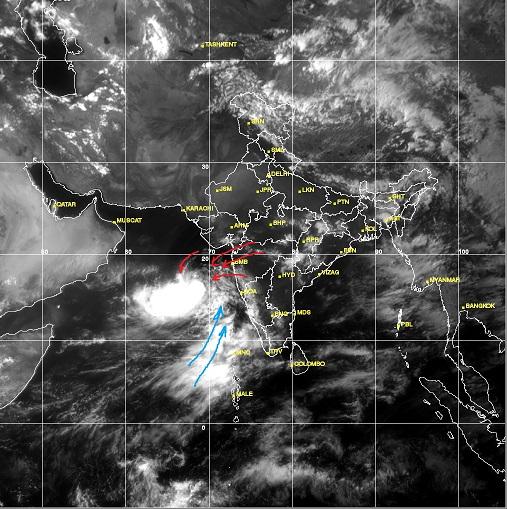 reason for delayed monsoon in india and cyclone nanauk