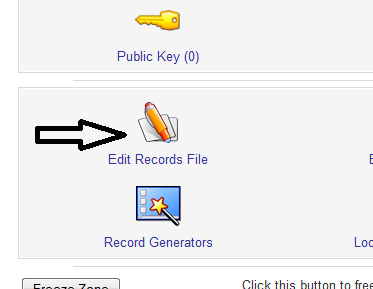 Edit master zone, Edit Records file