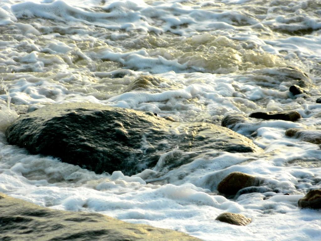 Rock in sea water