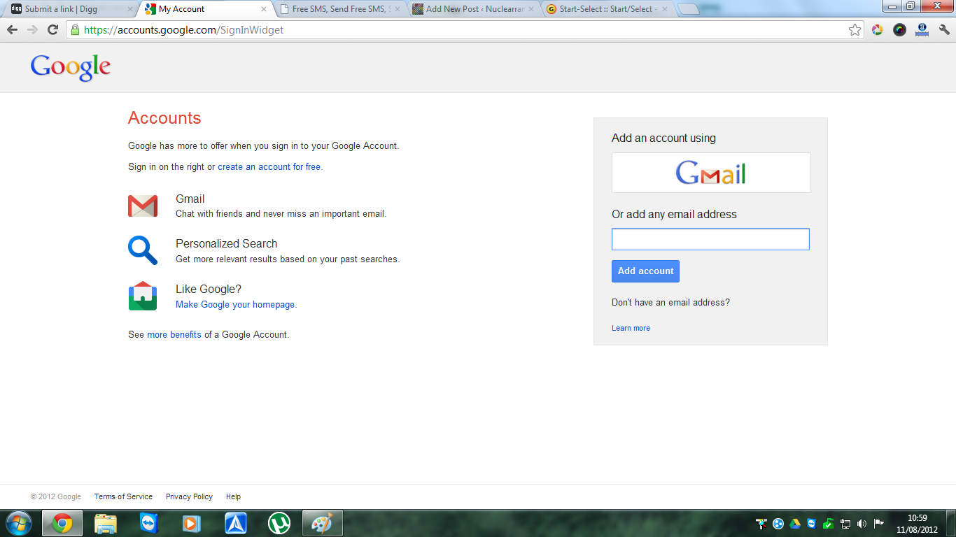 Google's new login page coming up for multiple accounts ...