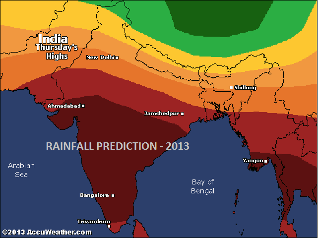 Rainfall prediction 2013