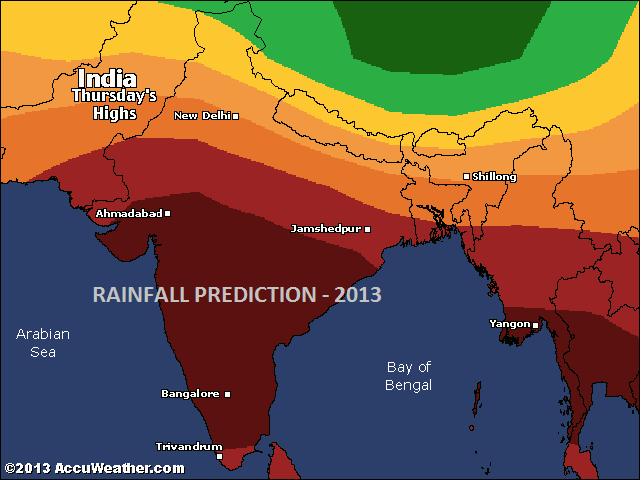 Rainfall prediction 2013