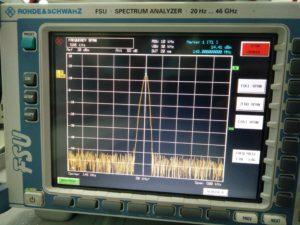DRA818V output on spectrum analyzer