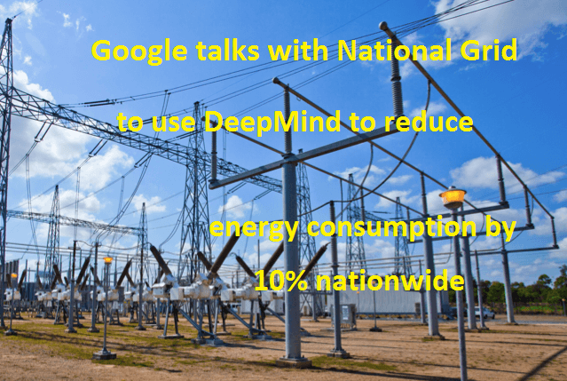 Google National Grid reduce energy consumption