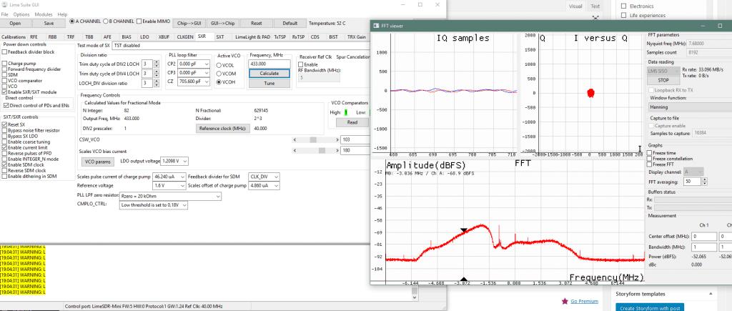 LimeSDR Mini FFT Viewer