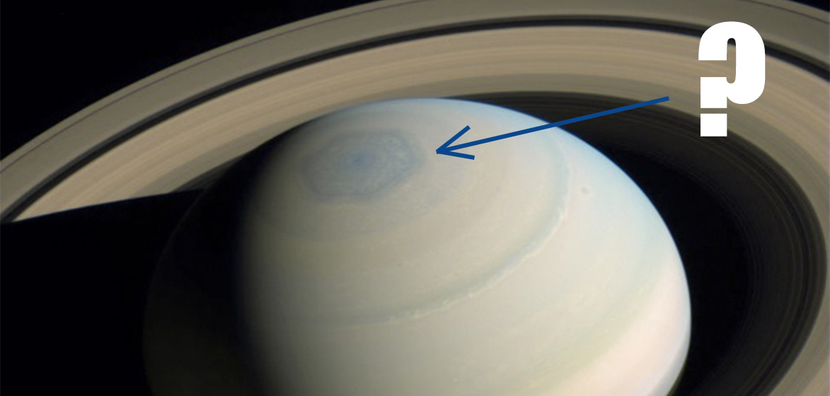 Saturn North Pole Hexagon