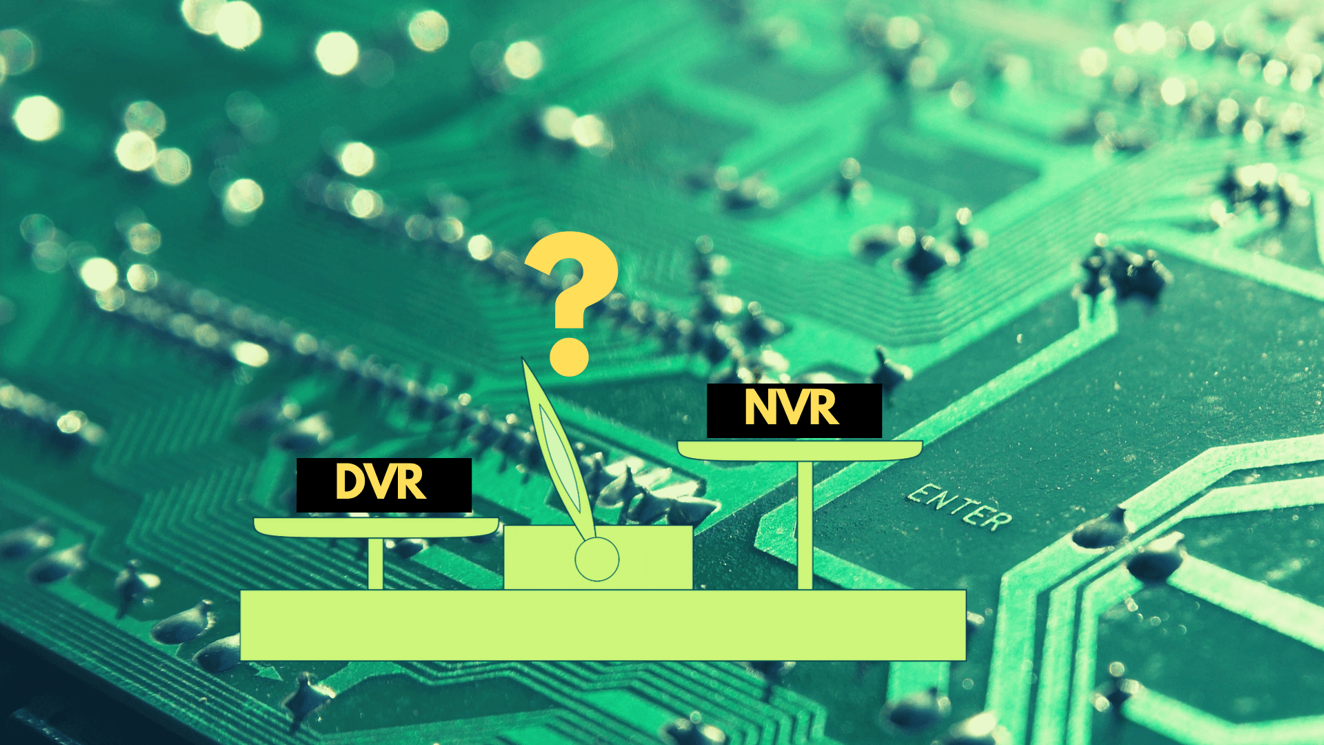 What security system do i need NVR vs DVR