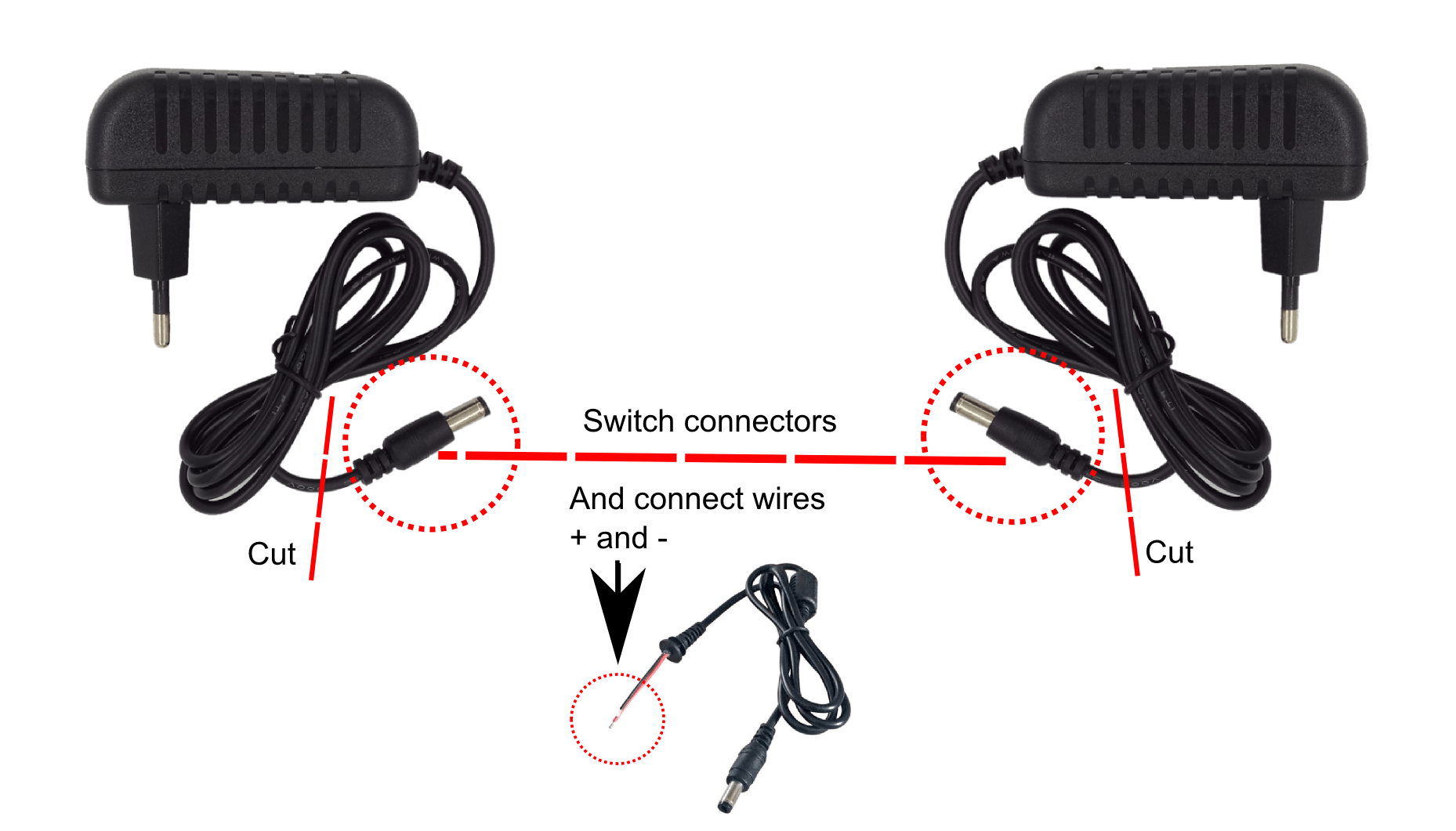 connector wiring power supply