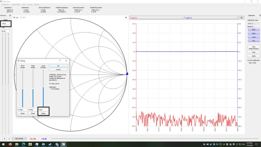 Port length extension nanovna