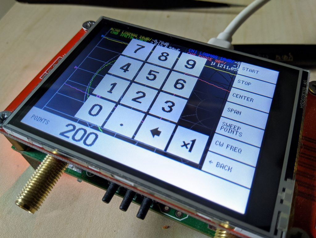 Nanovna v2 keypad
