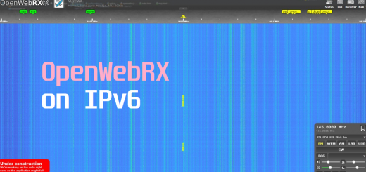 OpenWebRX running on a IPv6